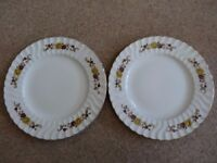 H AYNSLEY (AUTUMN PATTERN) - DINNER PLATES X 2
