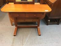 A BEAUTIFUL NATHAN GATELEG TABLE WITH DRWAERS