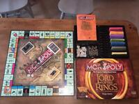 100% complete Monopoly - Lord Of The Rings edition! Rare