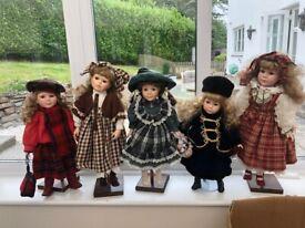 Porcelain Doll Collection (8 dolls)