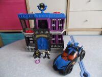 Imaginext Gotham City Jail & Batman Car with Lights/sound - Bargain £20