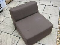 Chocolate Brown Chair Bed