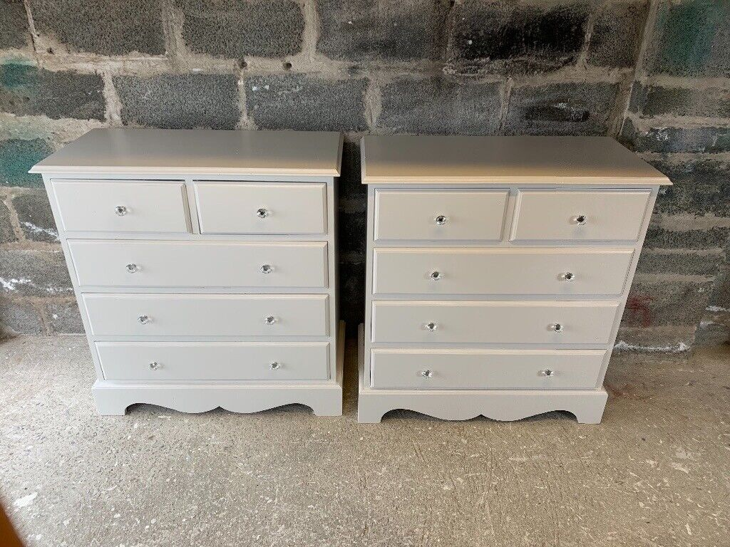 2 Identical Solid Wood Chest Drawers For Sale In County Antrim