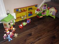 Fisher price, early learning, in the night garden figures, houses package