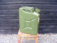 Portable 20L Metal Jerry Can - Army Green
