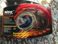 Car Amplifer Wiring Kit. Brand New unopened. Complete with 60 amp inline fuse.