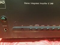 NAD Stereo Integrated Amplifier C 340 & speakers.