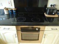 MIELE KM463 Electric Ceramic Hob with Stainless Steel Trim in Excellent Condition