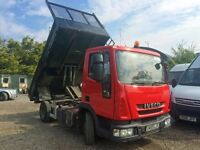 IVECO ML75E16, 2009 TIPPER, AUTOMATIC, LOW MILEAGE, ONE OWNER TRUCK.