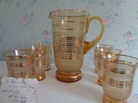 Vintage Water / Lemonade Set from the 1950's