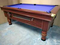 Commercial Quality 6x3 Pub Pool Table. Slate Bed. New Recover And Accessories