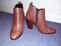 Ladies Next Berry Ankle Boots size 4