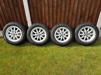 Four BMW Wheels and Tyres For Sale