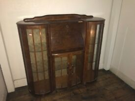 1950s Art Deco display cabinet/ bureau