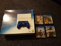 PS4 WHITE 500GB WITH GAMES