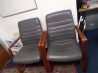 Pair of office/reception chairs