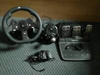 Logitech xbox one steering wheel pedals and gear shifter