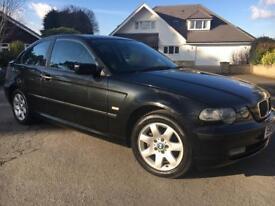 BMW 316TI SE Compact 1.8 petrol, 6months MOT, loads of service history
