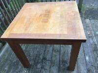 Dining table 90x90cm solid oak