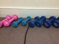 Selection of dumbbell weights