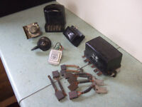 Vintage car electrical parts