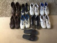 9 pairs of men's shoes and boots, size 11, £10 for all