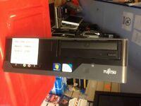 Fujitsu Siemens High Spec Fast Desktop PC 320GB 4GB RAM 6.4GHz Win7 Pro Wireless
