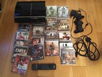 PlayStation 3 bundle, 2 controllers and 17 games for sale