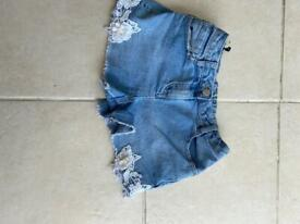 Denim shorts age 8-9