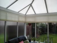 Pleated Blinds for conservatory - 4 sets