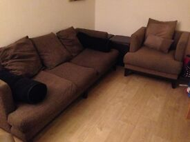 Free Sofa & two arm chairs & two matching high stools