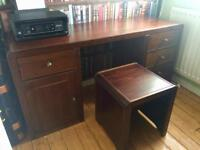 Office Desk/Dressing Table matching stool