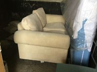 Two Seeter sofa from John Lewis in pale yellow