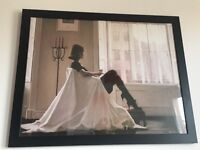 Framed Jack Vetriano Print - In Thoughts of You