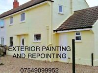Exterior painting and repointing