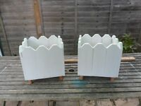 Picket outdoor square planters