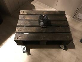 Small black pallet coffee table