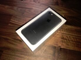 iPhone 7 256gb matte black sealed and unlocked