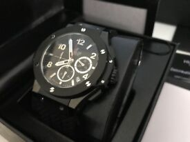 New Swiss Hublot Big Bang Black Case Ceramic bezel CHRONOGRAPH Watch