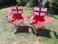 ENGLAND folding camping chairs