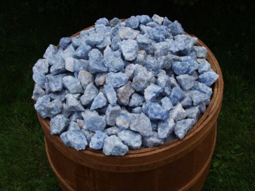 3000 Carat Lots of Unsearched Natural Blue Calcite Rough + FREE Faceted gemstone