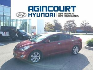 2013 Hyundai Elantra Limited/NAVI/LEATHER/OFF LEASE/ONLY 36951KM