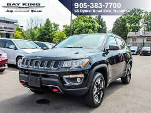 2017 Jeep Compass TRAILHAWK, 4X4, SUNROOF, GPS NAV, LEATHER INTE