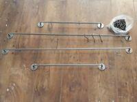 Ikea Kitchen Storage Rails and Hooks