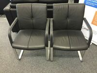 Pair of Leather boardroom chairs (would sell separately)