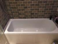 Bathroom fixtures - bath tub, toilet, sink (with taps)