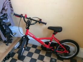 Red boy or girl bike for 3 or 4 year - up to age 6