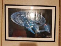 Star trek next generation Enterprise E large framed poster