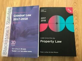 Selling criminal law and property law statute books