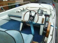(REDUCED) from £2400 to £2150 13FT DELL DORY BOAT AND 55HP SUZUKI P.T.T. OUTBOARD AND TRAILER